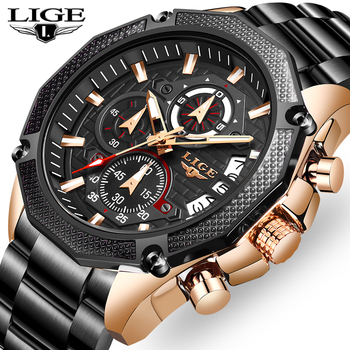 Relogio Masculino 2019 New LIGE Fashion Brand Mens Watches Full Steel Business Quartz Clock Military Sport Waterproof Watch Men