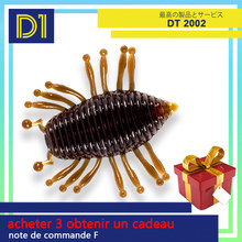 D1 larva worm fishing soft lure floating illex woodlouse gambit winter 30mm/1.1g Silicone Artificial Swimbait bass trout perch