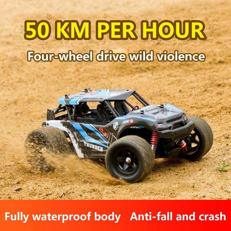 Радиоуправляемый автомобиль 1: 18 соотношение рулевого управления дифференциальный контроль 4wd час скорость 50 км четыре колеса восхождения по бездорожью гоночный сплав Материал - 2