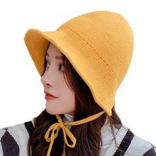 Sparsil женская зимняя шапка ведро Женская Складная вязаная