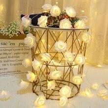Guirnalda de luces Led con cadena de rosas para decoración del hogar, decoración de boda, Navidad, Año Nuevo, cumpleaños, día de San Valentín, evento, fiesta, 10/20