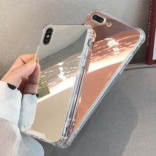 Airbag Full View Mirror Case for iphone 11 Pro MAX 6 6s 8 7 Plus 10 X XS Max XR SE 2020 Shockproof Soft Silicon Phone Back Cover
