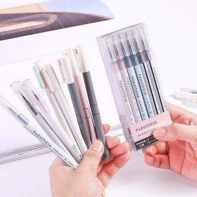 1pc Cute Simple Ball Pens 0.5mm Novelty Ballpoint Pens Kawaii Pens For Kids Girls Gift School Office Supplies Korean Stationery 2