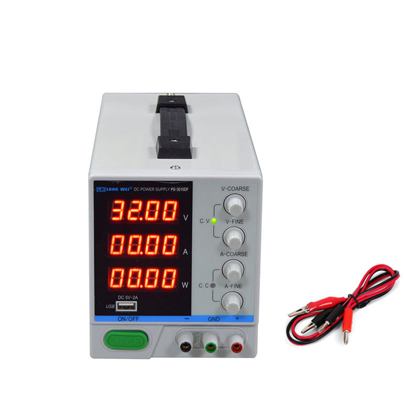 30V 10A alimentation cc réglable 3010DF 4 Bits affichage numérique alimentation à découpage régulée avec 5V 2A Port USB 110V 220V