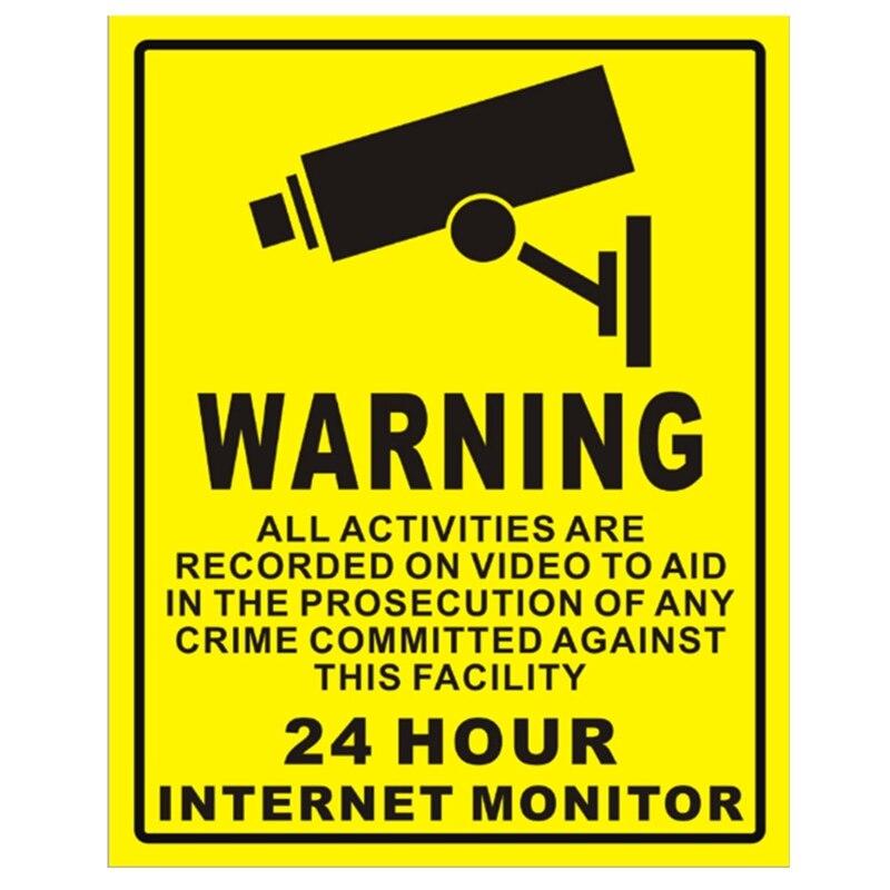 1Pc Waterproof Sunscreen PVC Home CCTV Video Surveillance Security Camera Alarm Sticker Warning Decal Signs