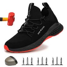 2020 bezpieczeństwo pracy Boot męskie niezniszczalne buty stalowe obuwie ochronne z podnoskiem komfort mężczyźni buty odporne na przebicie praca trampki męskie buty tanie tanio yadibeiba Pracy i bezpieczeństwa Mesh (air mesh) ANKLE Stałe Okrągły nosek RUBBER Wiosna jesień Mieszkanie (≤1cm)