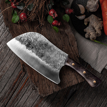 Handmade Forged Stainless Steel Kitchen Knife Chinese Meat Cleaver Vegetable Chopper Cutter Tool