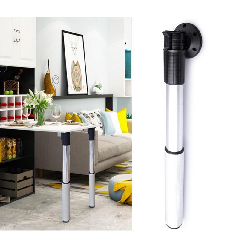 Folding Table Leg Aluminum Alloy Adjustable Lifting Bar Foot Bench Ejector Pin Work Desk Support Feet RV Telescopic51-110cm