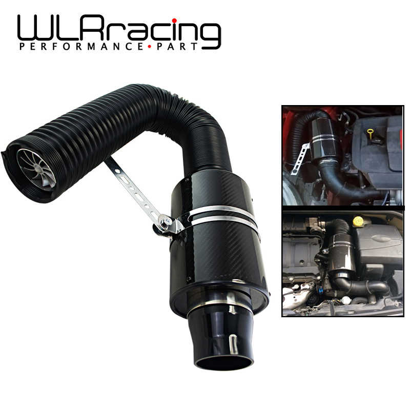 Wlr-Luchtinlaat Met Fan Universal Racing Carbon Fiber Koude Feed Inductie Kit Air Intake Kit Luchtfilter Box/Of Withouit Fan