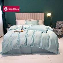 Sondeson Luxury Women 100% Nature Silk Bedding Set Healthy Skin Duvet Cover Set Bed Linen Pillowcase Flat Sheet Or Fitted Sheet