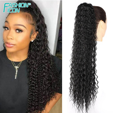 Drawstring Ponytail Natural-Extension Water-Wave Afro Puff Hair-30inch Synthetic FASHION