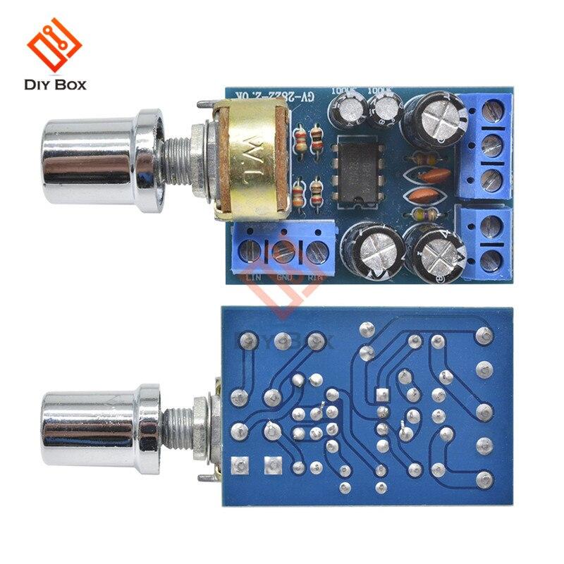 DC3V 5V 6V 12V Audio Power Amplifier Board TDA2822M Mini 2.0 Channel 1W*2 Stereo