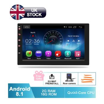"""2019 Super Slim Design 7"""" HD Android 8.1 In Dash Car Stereo GPS Navigation Auto Radio FM RDS Audio Video WiFi Multimedia System"""