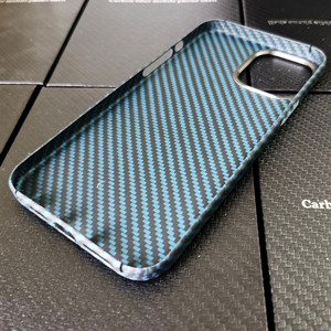 Image 5 - Blue Matte Ultra Light 100% Real Carbon Fiber Case Cover For iPhone12 Mini Case For iPhone 12 Pro Max Lens Protection