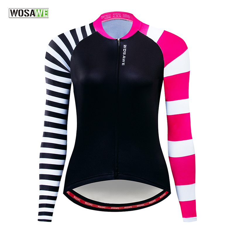 Cycling Jersey Long-Sleeves Shirt Bike WOSAWE Womens Mtb Breathable Ropa-Biciclet