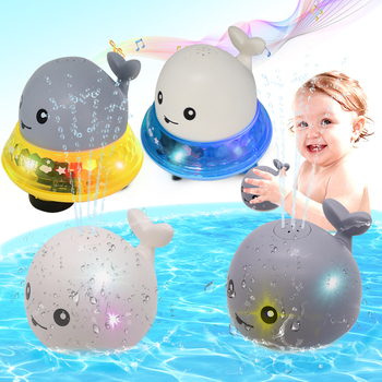 Flashing Bath Toys with Light Music Shower Pool Kids Toy for Electric Induction Children Bath Toys Bathroom LED Light Baby Toys baby bath toy cute cartoon light music sprinkler water splash ball kids baby bath pool toy led light funny toy