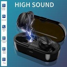 Tws fones de ouvido bluetooth esportes sem fio ipx5 à prova dwaterproof água fones bluetooth com microfone caixa carregamento