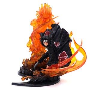 Image 4 - アニメナルトうちはブラザーイタチ火災赤 Vs サスケ Susanoo ブルー Pvc アクションフィギュアコレクション模型玩具 21 センチメートル
