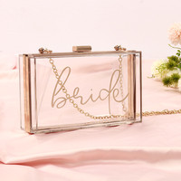 Women Customized Acrylic Clear Clutch Printed Transparent Crossbody Purse Candy See Through Name Evening Custom made Letter Bag