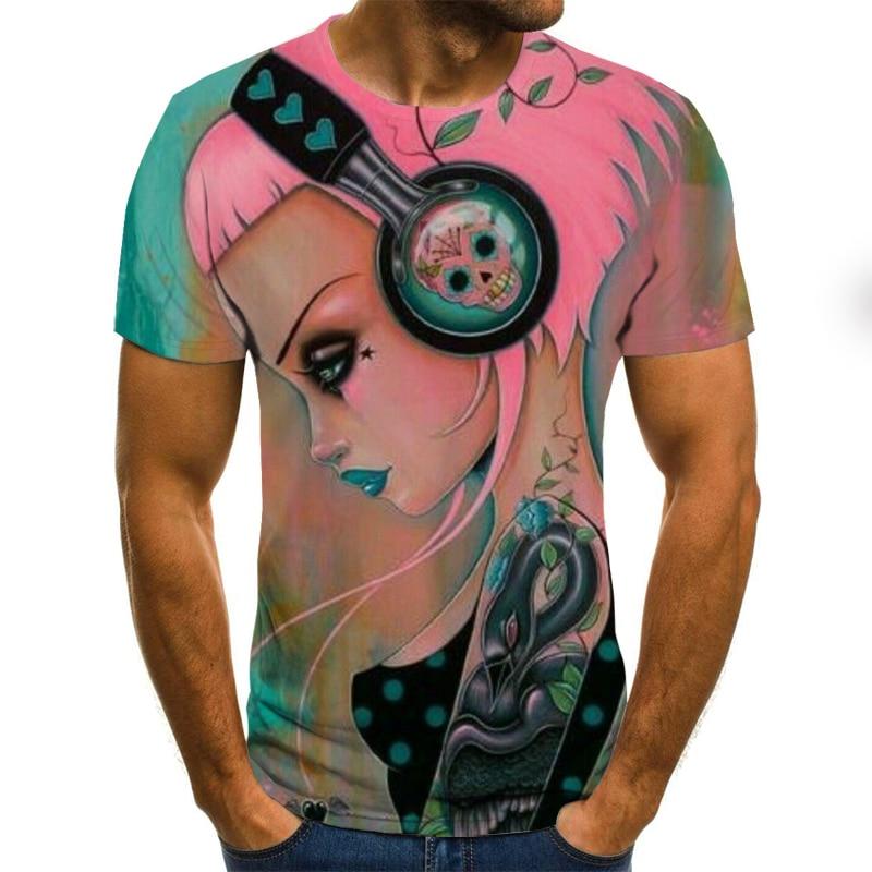 6XL Musical Hinweis 3D Druck Spaß Musik 3D T-shirt der Männer Männliche/Weibliche Mode T-shirt Sexy Harajuku Top T lustige Hemd T-shirt