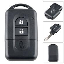 2 кнопки 3 кнопки Замена дистанционного ключа автомобиля оболочки чехол держатель для Nissan MICRA Xtrail JUKE Qashqai j11 Sunny