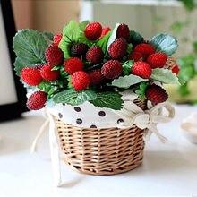 Новая искусственная пена, ягода, клубника, Искусственная Имитация тутового шелковицы, искусственные фрукты, дикие стеклянные фрукты, вишня,...