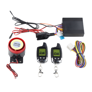 2 way LCD remote controller remote engine start stop arm disarm shock sensor motorcycle security alarm system