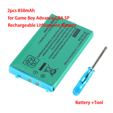 Battery-Pack Advance Game SP Nintendo Rechargeable for GBA Lithium-Ion with Screwdriver