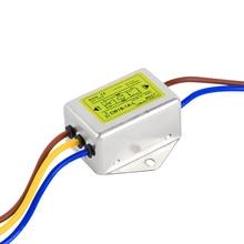 Анти-помех AC 220V питания фильтр ЭМП очиститель звука CW1B-L 1A 3A6A10A