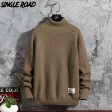Vintage Sweaters Turtleneck Harajuku Korean Singleroad High-Neck Winter Khaki