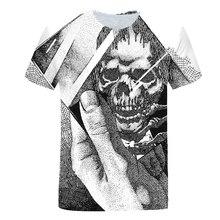 2021 Men's 3d Printed Skull Series Casual T-shirt Men And Women Fashion Wild 3dt Shirt Short-sleeved Shirt T-shirt men clothing