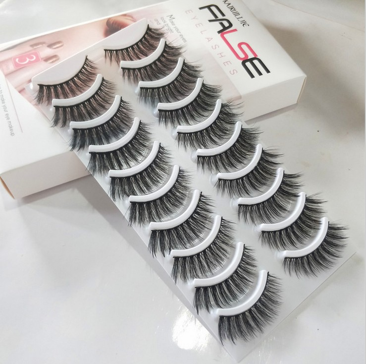 NEW <font><b>30</b></font> <font><b>Pairs</b></font> <font><b>Eyelashes</b></font> 3D Mink <font><b>Eyelashes</b></font> Long Lasting Mink Lashes Natural Dramatic Volume <font><b>Eyelash</b></font> Extension False <font><b>Eyelashes</b></font> image