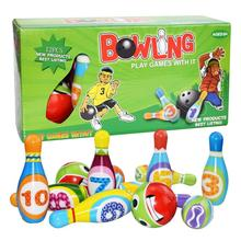 Play-Set Educational-Toy Bowling-Games Colorful-Pattern Sport PU Children Indoor Solid
