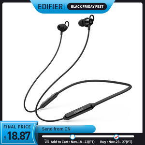 Image 1 - Edifier w200bt (se) fone de ouvido sem fio bluetooth 5.0 ipx4 avaliado à prova dwaterproof água 7hrs de reprodução função magnética fone de ouvido bluetooth