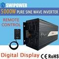 5000 Вт (пульт дистанционного управления) Чистая Синусоидальная волна солнечный инвертор DC 12 В 24 в 48 в к AC 110 В 220 В цифровой дисплей