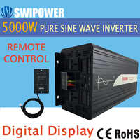 5000W (fernbedienung) reine sinus welle solar power inverter DC 12V 24V 48V zu AC 110V 220V digital display