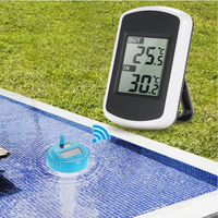 Accurate Digital Swimming Pool Spa Practical Wireless Solar Powered Floating Thermometer Professional Pond LCD Display Tools