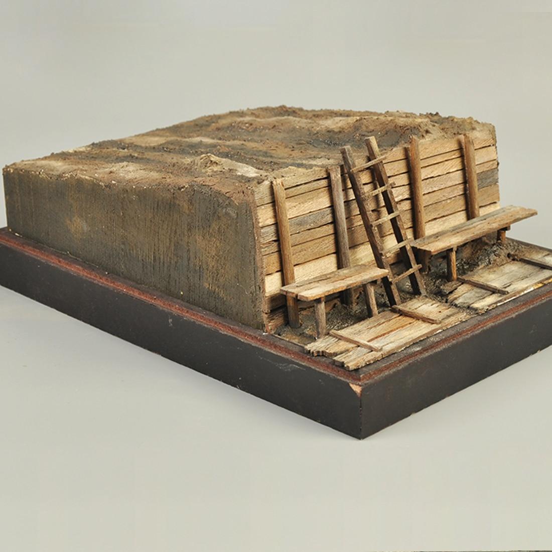 1/35 25 X 18cm DIY Military Sand Table Construction Model Trench Scene Platform Kits Model Building Kits 2019 New