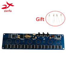 Zirrfa 5Vอิเล็กทรอนิกส์DIYชุดIn14 NixieหลอดดิจิตอลLEDนาฬิกาของขวัญCircuit BoardชุดPCBA,หลอด