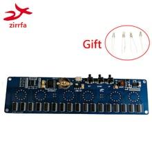 Zirrfa 5V elektronik DIY kiti in14 Nixie tüp dijital LED saat hediye devre kiti PCBA, hayır tüpler