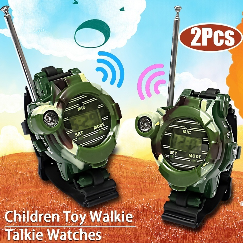 2pcs 150M Professional Children Two Way Radio Walkie Talkie Kids Camouflage Wrist Watch Kids Radio Retevis Handheld Toys