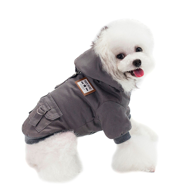 Hooded Pet Dog Clothes Autumn Winter Soft Warm Coat Pet Hoodie Supplies TUE88 1