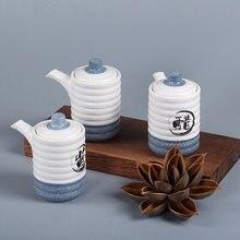 Японский креативный керамический горшок для соуса со снежинкой