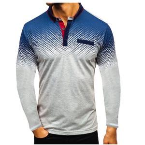 Image 5 - 2019 Autumn NEW Fashion POLO Shirt Men, Cotton Casual Long Sleeve POLO Shirts, Male High Quality Turn Down Collar POLO Shirt