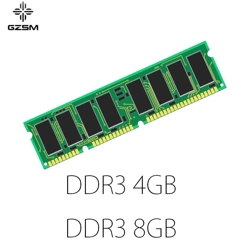 GZSM Desktop Memory DDR3 4GB 8GB for PC3-8500 PC3-10600 PC3-12800 Cards 1066MHZ 1333MHZ 1600MHZ RAM 240pin 1.5V