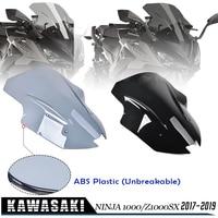 Motorcycle Accessories WindScreen Visor Viser For Kawasaki Ninja 1000 Z1000SX 2017 2018 2019 Windshield wind deflector Ninja1000