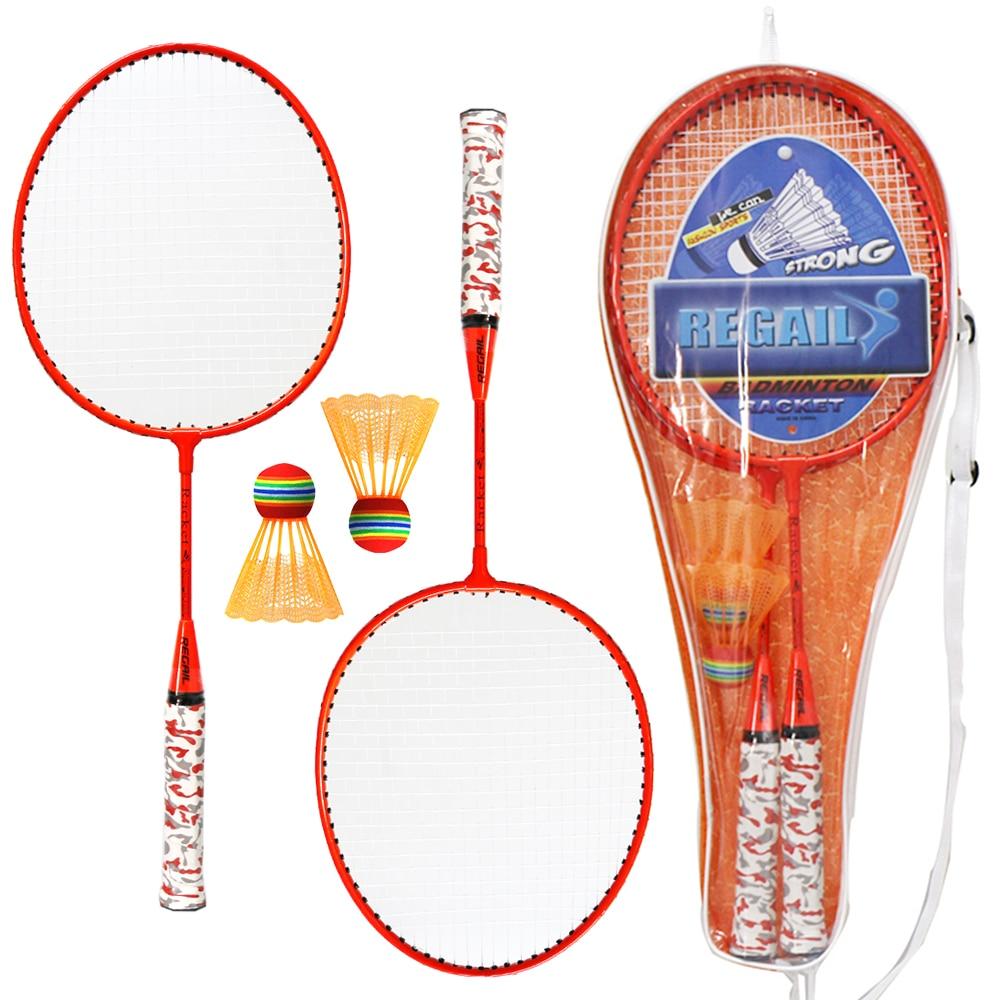 1 Set Badminton Rackets With Balls 2 Player Badminton Set For Children Indoor Outdoor Sport Game