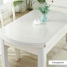BALLE şeffaf PVC Oval masa örtüsü özel şekil masa örtüsü koruyucu masa pedi yumuşak cam yemek üst masa örtüsü plastik Mat