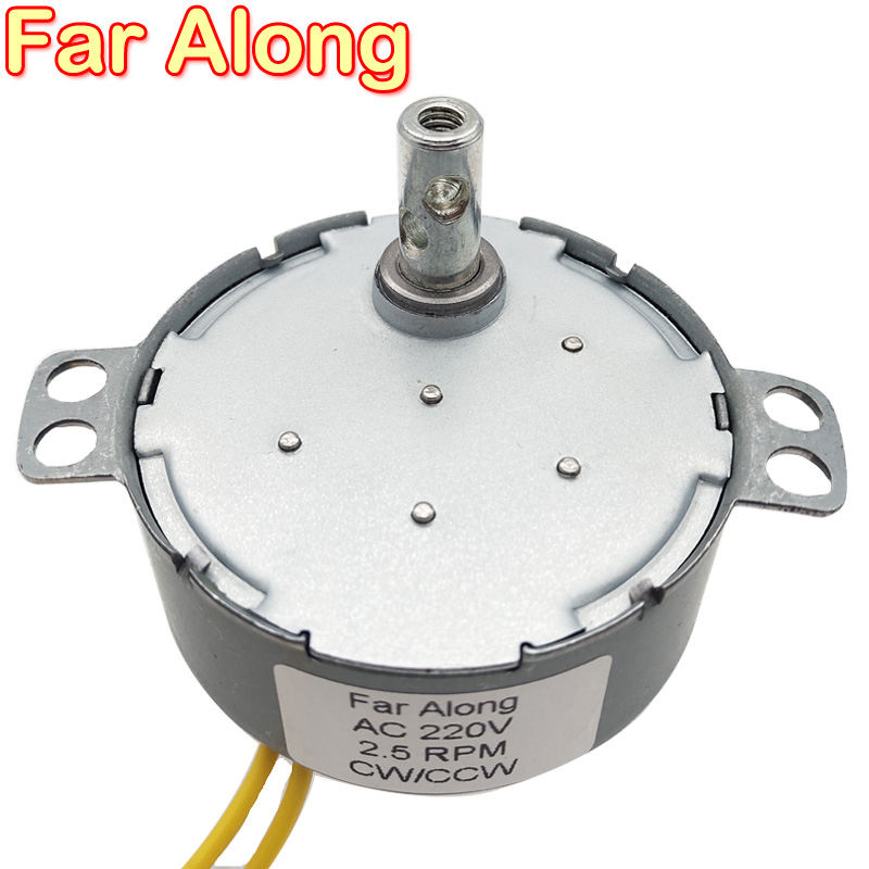 Non-directional Permanent Magnet <font><b>Electric</b></font> Synchronous <font><b>Motor</b></font> TYD49 AC <font><b>220V</b></font> 4W 2.5/5/30RPM For Fan Small Barbecue Humidifier etc. image
