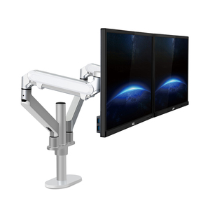 Image 3 - Hyvarwey OL 2Z pulpit 17 32 calowy podwójny Monitor ramię montażowe pełnoekranowy aluminiowy uchwyt monitora sprężyna gazowa ramię obciążenie 2 8kg każdy